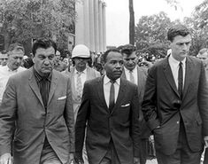 15. Civil Rights Movement Civil Rights Leaders, Civil Rights Movement, James Meredith, Women Right To Vote, History Icon, Us Marshals, University Of Mississippi, Strange History, Ole Miss