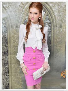 Morpheus Boutique  - White Rose Chiffon Long Sleeve Ruffle Shirt