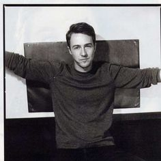 Edward Norton, male actor, young, youth, sexy guy, love him, portrait, photo b/w.
