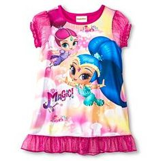 Nickelodeon® Toddler Girls' Shimmer and Shine Nightgown Pink 3T : Target
