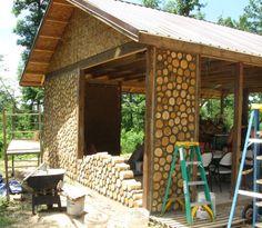 cordwood construction | Cordwood Cabin Building http://cordwoodconstruction.wordpress.com/2012 ...
