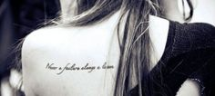 Never a failure, always a lesson. back tattoo for fashion girls