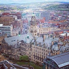 Sheffield Town Hall from above! (photo by Karakaya Karakaya on IG) Sheffield Town Hall, Adrian Mole, Happy City, Sheffield Wednesday, Travel Tours, Derbyshire, Art And Architecture, Yorkshire, Paris Skyline
