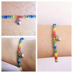 Today I made this rainbow lgbt Pride bracelet 💛 very simple, but  had some trouble to catch those little beads! Maybe I can do more and upload on my etsy shop, what do you think? Spread the LOVE!
