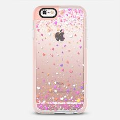 Valentine Hearts Rain Transparent  - New Standard Pastel iPhone 6s Case