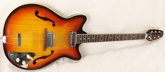 Vintage 60's Japan Hollow Body Dual Single Coil Electric Guitar -Flamed Maple!  $250