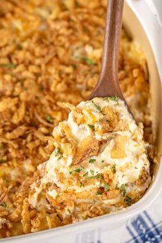 French Fried Onion Chicken, French Onion Dip, French Fried Onions, Baked Chicken, Chicken Recipes, Chicken Meals, Cheesy Chicken, Pork Recipes, Onion Casserole