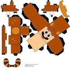 Tanooki Mario - cubeecraft / papercraft by MarcoKobashigawa - Super Mario Bros, Super Mario Party, Super Nintendo, Mario Crafts, Diy For Kids, Crafts For Kids, Character Model Sheet, Mario Brothers, Diy Arts And Crafts