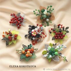 Hand Embroidery Flowers, Bead Embroidery Jewelry, Beaded Jewelry Patterns, Handmade Jewelry Designs, Fabric Jewelry, Seed Bead Jewelry, Bead Jewellery, Bead Crafts, Jewelry Crafts
