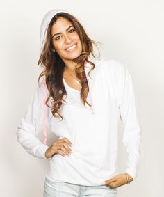 Look at this Banana Split White V-Neck Hoodie on #zulily today!
