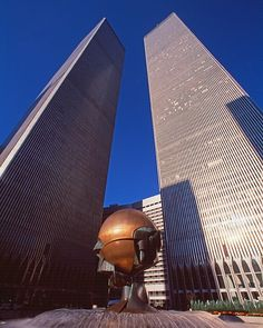 The Trade Center on a clear day. In front the sphere designed by the German artist Fritz Koenig. #neverforget #remember #oneworldtradecenter #twins #twintowers #wtc #worldtradecenter #oneworldobservatory #2001 #september11 #skyline #skyscraper #nyc #newyork #newyorkcity #manhattan #tribeca #brooklyn #brooklynbridge #newyorker #usa #empirestatebuilding #photography #photooftheday #photographer #photograph #photo #nofilter #911 #911memorial
