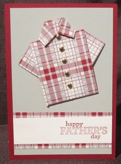 stampin up fathers day card   Tatiana Crating - Father's Day Oragami Shirt