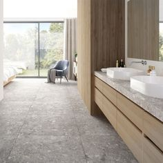 Bad Inspiration, Living Room Inspiration, Bathroom Inspiration, Farmhouse Renovation, Apartment Renovation, Flat Interior, Natural Interior, Terrazo Flooring, Bathroom Vanity Designs