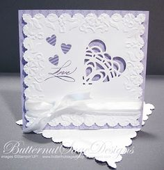 DOILY HEART-video tutorial on creating this with Stampin' Up's doily sizzlet die