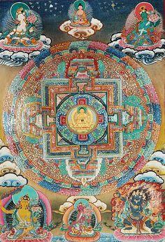 Shakyamuni Buddha Mandala Tibetan Mandala, Tibetan Art, Tibetan Buddhism, Buddhist Art, Mandala Drawing, Mandala Painting, Buddha, Thangka Painting, Wheel Of Life