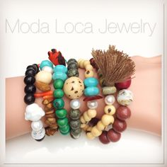 Stackable stretch bracelets! Which one is the cutest? @Modalocajewelry #summerjewelry