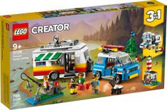 Caravan Family Holiday 31108 | Creator 3-in-1 | Buy online at the Official LEGO® Shop US Family Holiday, Holiday Fun, Caravan Holiday, Beach Buggy, Presents For Kids, Lego Creator, Kits For Kids, Creative Play, Retro Cars