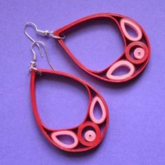 Drop Quilled Earrings - simple design makes a strong look with lots of layers to shapes