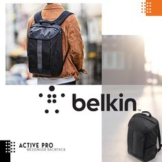 Get ready and keep active with Belkin Active Pro New in stock backpack bag for macbook /laptop up to 15.6 inch  Available in Black
