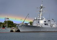 USS Chung-Hoon is docked at Joint Base Pearl Harbor-Hickam after a rain shower. by Official U.S. Navy Imagery, via Flickr