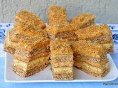 Prăjitura Krantz cu nucă caramelizată și cremă de vanilie – rețeta veche a bunicii