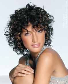 short curly hair with bangs. adorable.