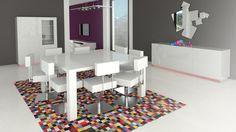 table laquee avec rallonges veliki bahut laque quadrat