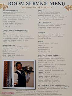 Room Service Menu • The Disney Cruise Line BlogThe Disney Cruise Line Blog