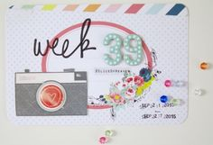 Project Life week 39.. Oh How I love cameras with bright happy colours
