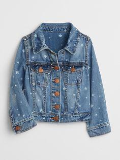 678f3108a Gap Baby Star Denim Jacket Light Indigo Cute Toddler Girl Clothes, Stylish  Toddler Girl,