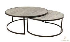 Tøft sett bestående av 2 stykk runde rustikke Old Amsterdam sofabord!Mål bord 1:Diameter 110 cmHøyde 42 cmMål bord 2:Diameter 90 cmHøyde 38 cmM