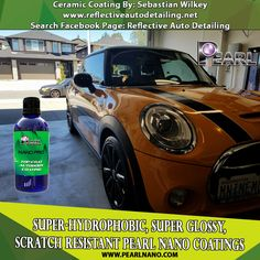 2014 Mini Cooper S received a LVL 2 Ceramic Coating Protection Detail plus the wheels were coated with Pearl HD by professional nano Coating Sebastian Wilkey. Super-Hydrophobic - Scratch Resistant Nano Coatings from Pearl - Detailer & Private Label Options | 1-866-285-1051