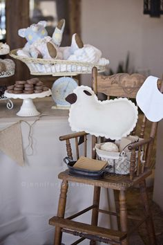 VIntage Lamb Themed Neutral Baby Shower