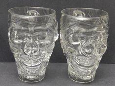 Treasure Island Glass Pirate Skull Mug Set Of 2      $44.97              3080