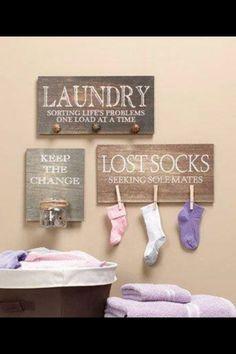 Cute Laundry room idea!