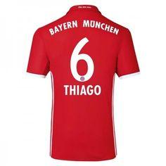 44145ece Bayern München 16-17 #Thiago Alcantara 6 Hemmatröja Kortärmad,259,28KR,