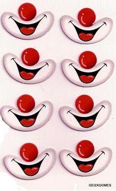 ♥ Compartiendo con mis amigas ♥: ♥ Ojos y bocas de payasitos listas para imprimir ♥ Circus Birthday, Circus Theme, Circus Party, Diy And Crafts, Crafts For Kids, Arts And Crafts, Paper Crafts, Clown Faces, Cartoon Faces