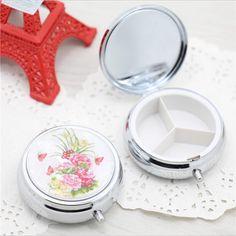 Customize logo Folding pill case drug Medicine Organizer Portable Pill Box Makeup Storage Container pastillero pildoras estuche