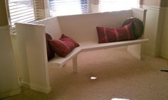 Church pew bench seating, for a table seating
