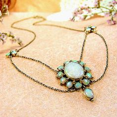 Vintage opal necklace