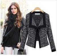 New European 2015 Soft Linen Open Stitch long sleeve jaqueta feminina casacos femininos short jacket coat for women casaco C376