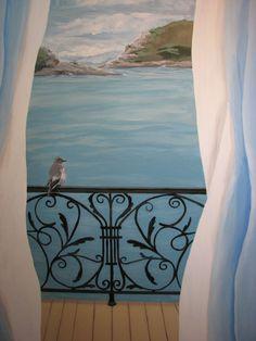 Murale-paysage.jpg (800×1067) Réalisée par Caroline Lesmerises de  Tonique décor.com