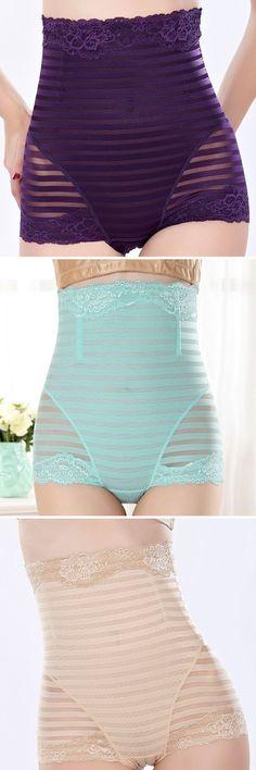 0f05a42e1eaf US$ 6.88 High Waisted Tummy Tuck Solid Color Shapewear Briefs Underwear - # Brief