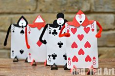 Whimsical Wonderland Card Soldiers    Make these Whimsical Wonderland Card Soldiers for your kids who love Alice and all her mad adventures.
