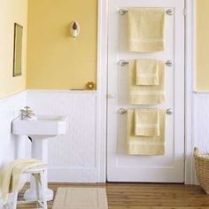 Another unique and efficient place to hang towels