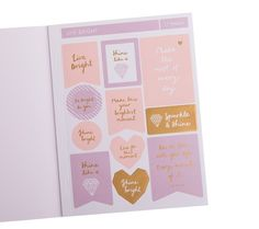 Add some sparkle and shine to your kikki.K Planner with these gorgeous gold foil stickers. #kikkiK #planner