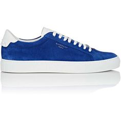 """Givenchy Men's \""""Urban Knots\"""" Suede & Leather Sneakers ($495) ❤ liked on Polyvore featuring men's fashion, men's shoes, men's sneakers, blue, mens shoes, men's low top shoes, mens suede lace up shoes, mens low tops and mens low profile shoes"""
