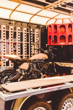 The amazing solution if you want to own a trailer which is suitable for transporting your motor bike and caravaning into the outdoors. Motorbikes, Trailers, Transportation, Outdoors, Camping, Campsite, Hang Tags, Motorcycles, Outdoor Rooms