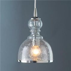 """Colored Seeded Glass Pendant 10.5""""H x7'W) Clean with dry cloth only.  Product SKU: PE08004 CLR Price:  $159.00"""