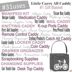 Uses for Littles Carry-All Caddy Thirty One Games, Thirty One Fall, 31 Organization, Thirty One Business, First Aid Supplies, 31 Gifts, Did You Know Facts, 3 In One, Direct Sales